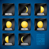 Moon Phases Icon Set Royalty Free Stock Image