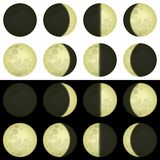 Moon phases, set Stock Image