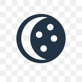Moon phases vector icon isolated on transparent background, Moon royalty free illustration