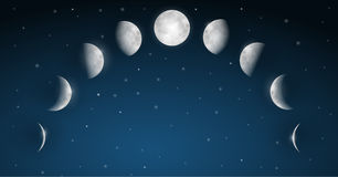 Moon Phases Vector royalty free illustration