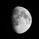 Moon. Picture of moon taken using nikon D5200 500mm lens Royalty Free Stock Photography