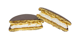 Moon Pie Cut In Half Stock Photo
