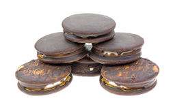 Moon Pies Arranged Stacked White Background Royalty Free Stock Images