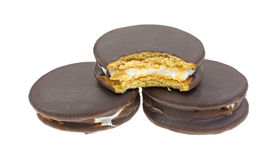 Moon Pies Group One Bitten Stock Photos