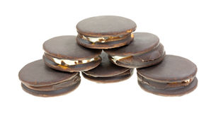 Moon Pies Stacked Wide Curved Angle Royalty Free Stock Photography