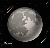 Moon planet 3d vector illustration Stock Photos