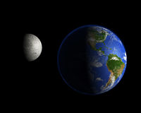 Moon and planet Earth Royalty Free Stock Images