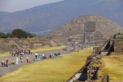 Moon pyramid I, teotihuacan stock photo