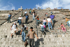The moon pyramid at Teotihuacan en Mexico Royalty Free Stock Images