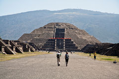 Moon Pyramid Teotihuacan Mexico Stock Photo