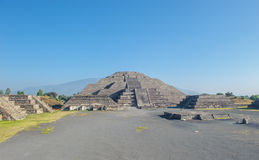 Moon pyramid in Teotihuacan, Mexico Royalty Free Stock Images