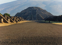 Moon Pyramid in Teotihuacan, Mexico. Moon pyramid in during a morning in Mexico Royalty Free Stock Photo