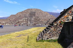 Moon pyramid VII, teotihuacan royalty free stock image