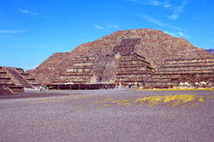 Moon pyramid VIII, teotihuacan royalty free stock images