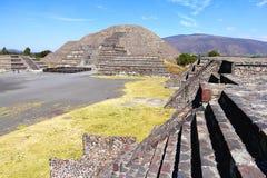 Moon pyramid XI, teotihuacan stock photos