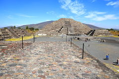 Moon pyramid XIV, teotihuacan royalty free stock photos