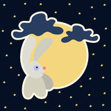 Moon rabbit of Mid Autumn Festival. Chuseok Stock Images
