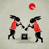 Moon Rabbits Stock Images