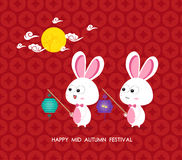 Moon Rabbits of Mid Autumn Festival Royalty Free Stock Images