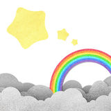 Moon and rainbow Royalty Free Stock Photo