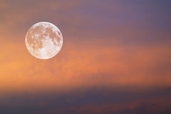 Moon in red sky Stock Photo