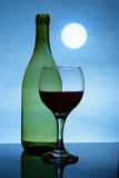 Moon and red wine Stock Image
