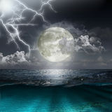 Moon reflecting in a lake Royalty Free Stock Photos