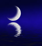 Moon Reflecting in Water Royalty Free Stock Photo