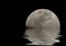 Moon reflections Royalty Free Stock Photography