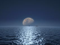 Moon render Royalty Free Stock Photo