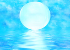 Moon and rippled water Royalty Free Stock Photography