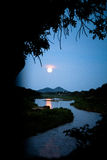 Moon Rise. Moon rising over the Crocodile River in the Kruger national Park Royalty Free Stock Photography