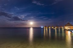 Moon Rise royalty free stock image
