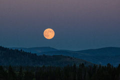 Moon rise. On the mountain Royalty Free Stock Images