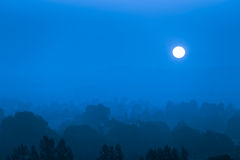 Moon rise over Royalty Free Stock Images