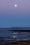 Moon Rise over Mono Lake Stock Images