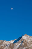 Moon rise over mountain. Moonrise over one of the mountains in  Aba Prefecture in Sichuan China Stock Image