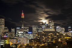 Moon rise over Sydney Royalty Free Stock Photography
