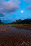 Moon Rise River Landscape Royalty Free Stock Photography