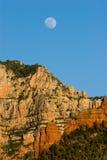 Moon rises over mesas and buttes near Sedona, Arizona Royalty Free Stock Image