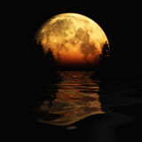 Moon Rising Royalty Free Stock Photography