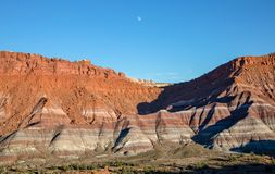 Moon Rising Over the Scenic Escalante Grand Staircase National Monument Utah Stock Images