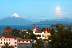Puerto Varas at the shores of Lake Llanquihue in Chile royalty free stock photography