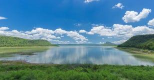 Moon river, view from Lam Mun Bon dam, Nakhon Ratchasima, Thaila Royalty Free Stock Photography
