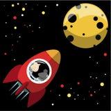 moon rocket to Στοκ Εικόνα