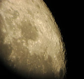 Moon's craters Royalty Free Stock Images