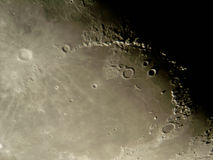 Moon's surface. Photo of the Moon surface as seen through telescope royalty free stock photography