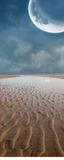 Moon Sand. A sand beach with a moon over head Royalty Free Stock Photos