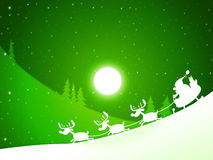 Moon Santa Indicates Merry Xmas And Celebrate Royalty Free Stock Images