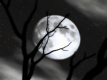 Moon Scenery Royalty Free Stock Photography
